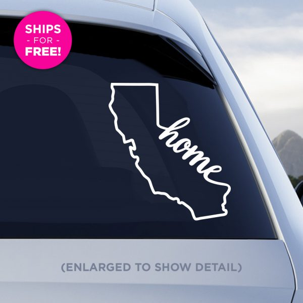 California Home Vinyl Decal