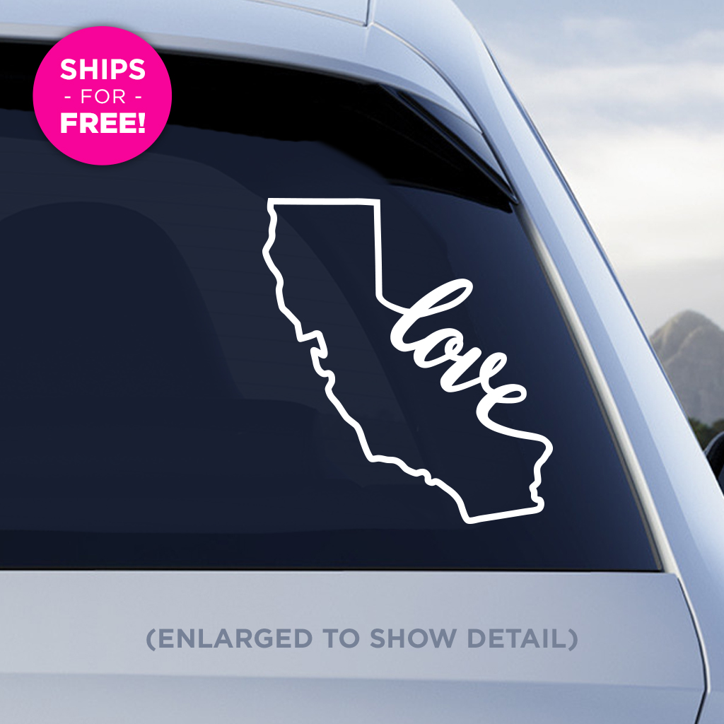 California Love Vinyl Decal