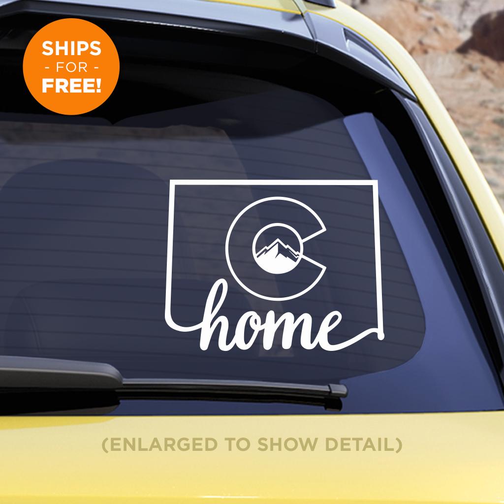 Colorado Home Vinyl Decal